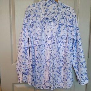 Gap boyfriend cotton butterfly shirt, XL